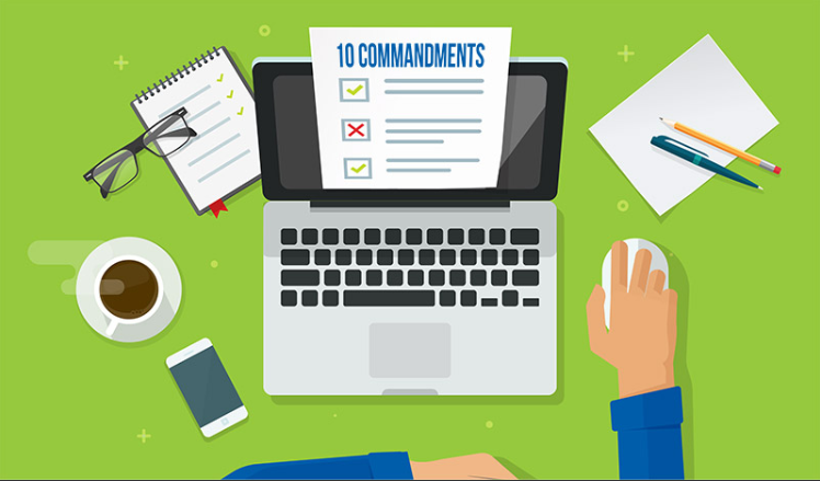 10 COMMANDMENTS OF WORDPRESS