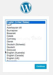 Chọn ngôn ngữ cho wordpress
