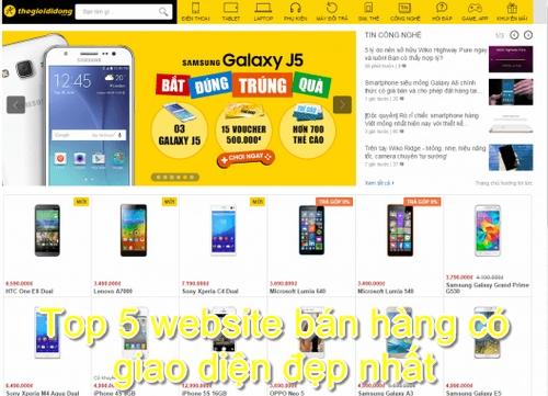 Website bán hàng của thegioididong