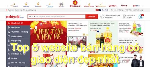 Website bán hàng trực tuyến Adayroi