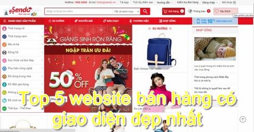 Website bán hàng Sendo