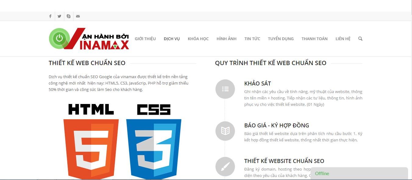 Thiết kế website Vinamax