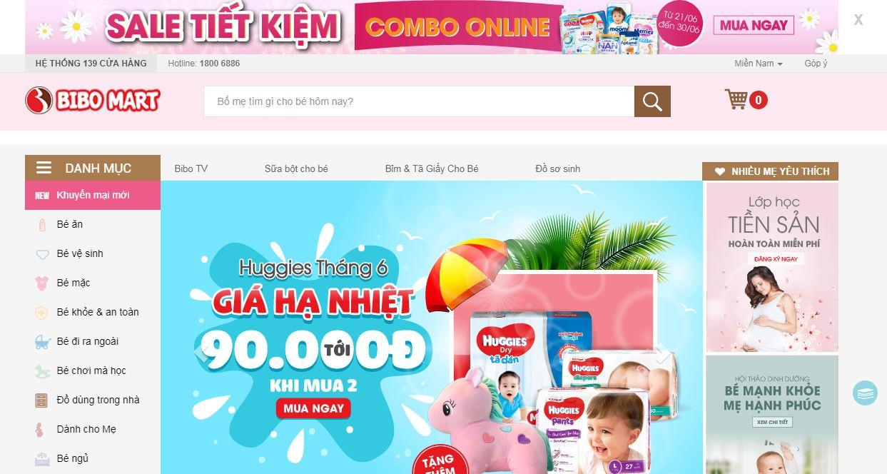 Bibo Mart - website mua sắm trực tuyến cho mẹ và bé hàng đầu