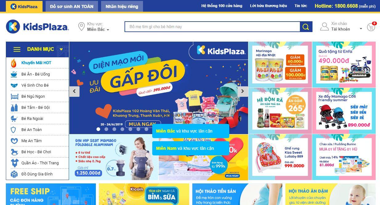 Kids plaza - website mua sắm trực tuyến cho mẹ và bé chất lượng