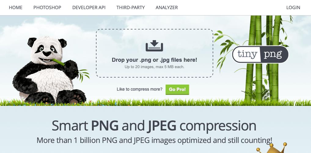Công cụ hỗ trợ tối ưu hình ảnh trên website Tiny PNG