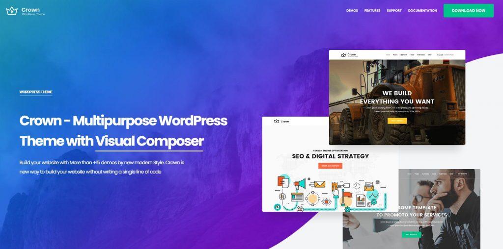 Theme thẩm mỹ viện WordPress Crown