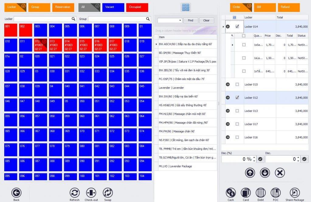 phần mềm quản lý spa Namoly