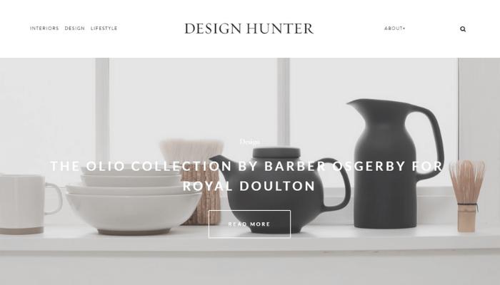 mẫu website thiết kế nội thất design hunter