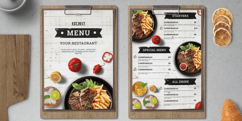 chú ý về menu khi thiết kế website nhà hàng